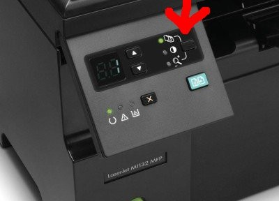 HP LaserJet M1132 MFP scan button